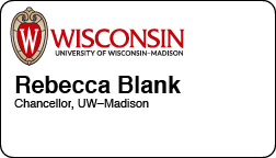 UW–Madison name badge example